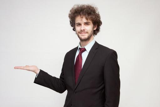 Handsome foreign businessman 130
