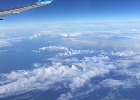 비행기에서보기 하늘