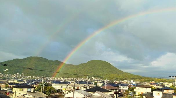 Rainbow in the sky after the rain 003