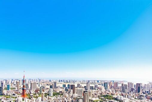 Tokyo landscape blue sky