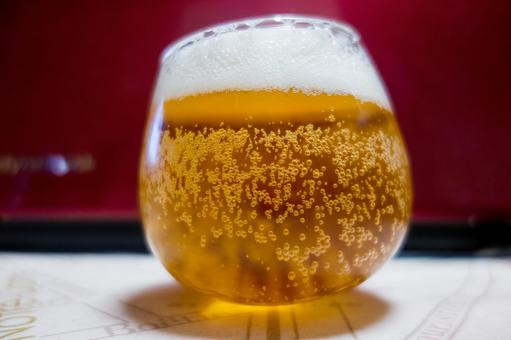 Beer with rock glass