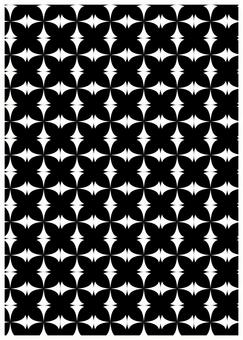 Geometric pattern texture butterfly black
