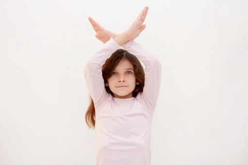 Foreigner girl hand sign 10