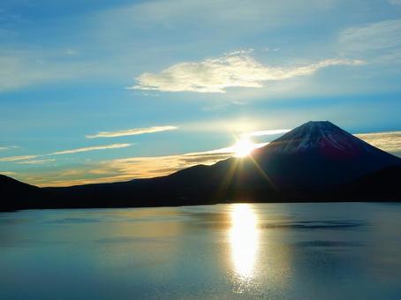 Konan series (Mt. Fuji and Asahi and Lake Motosu from Minobu Town)