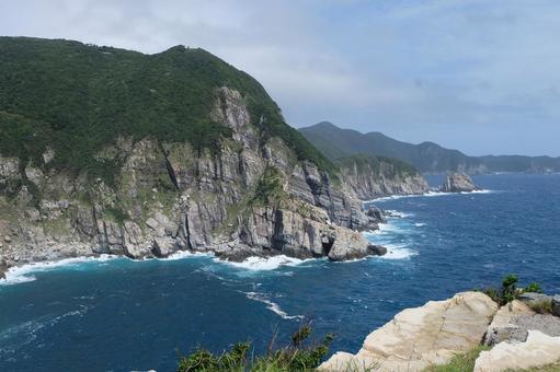 나가사키 · 오도 열도 후쿠 서해 국립 공원 오세 자키 등대 그 1