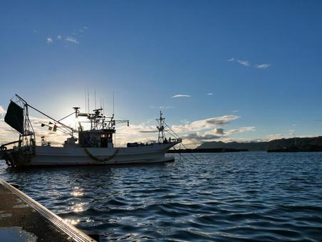 Fishing port scenery