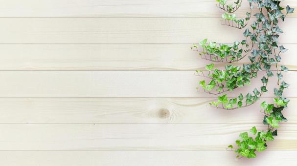 Frame, wood grain, board wall, green, 16: 9