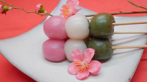 Three color dumpling 3
