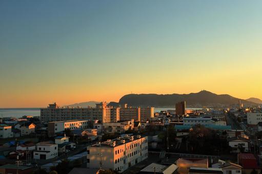 Sunset on Mt. Hakodate