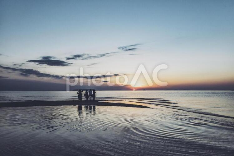 父母ヶ浜の夕焼け 香川県三豊市の写真