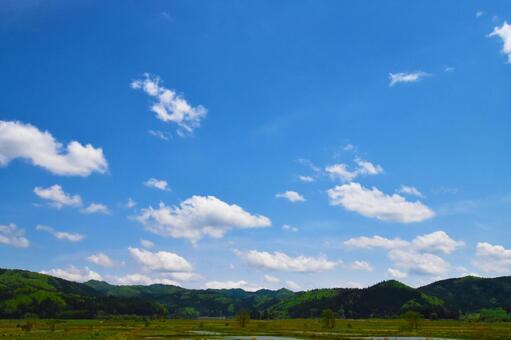 시골의 풍경 (푸른 하늘과 구름) 0430