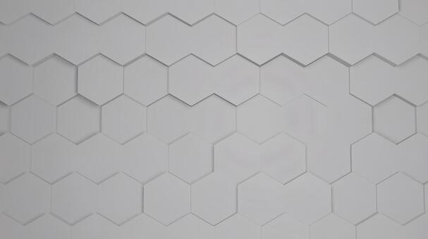 White honeycomb pattern with random irregularities