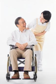Men and nurses on a wheelchair 26