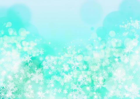 雪水晶纹理_淡绿色