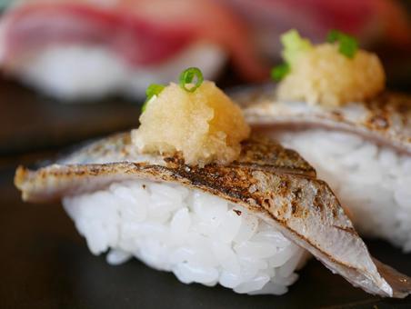 Hokkaido sushi roasted saury