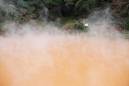벳푸 지옥 순례 지역의 연못 지옥