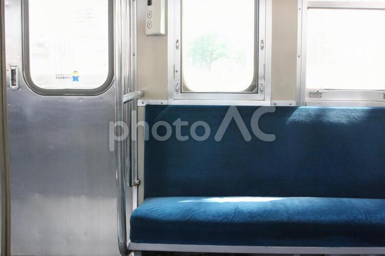 電車の椅子の写真