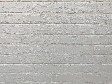 Brick white wall