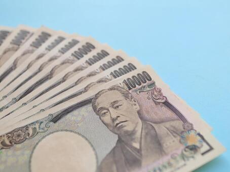 1 만엔 지폐 현금 지폐 돈