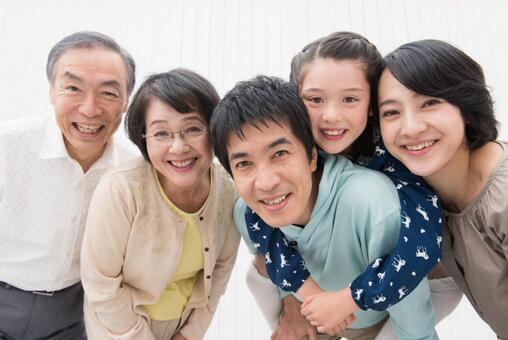 Caring close friend Three generations Family 4