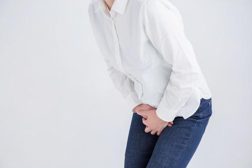 Person holding a crotch