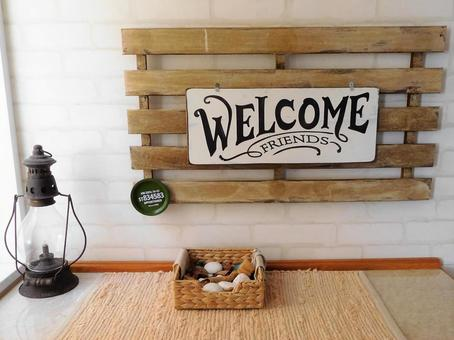 WELCOME (entrance display)
