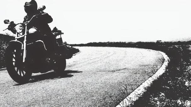 Monochrome motorcycle