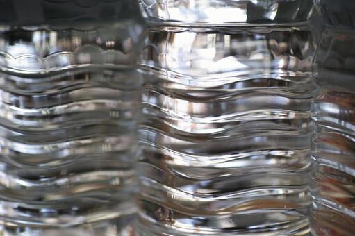 PET bottles of water