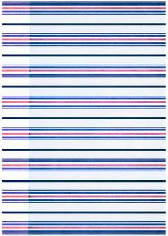 Grunge texture Horizontal border blue x Pink