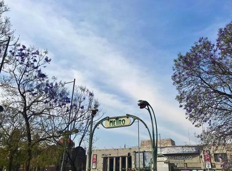 [멕시코] 지하철 입구 간판