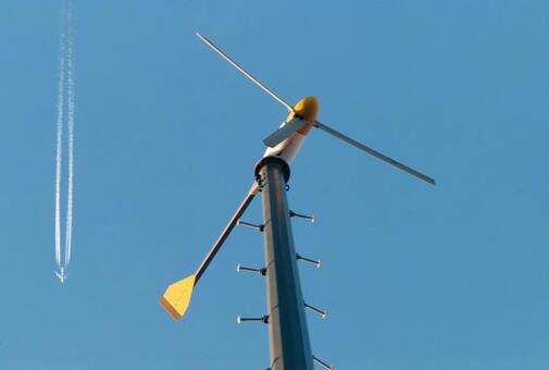 Blue sky and windmill (Propeller type 3 wings) 13