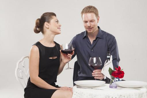 Couple drinking wine 15