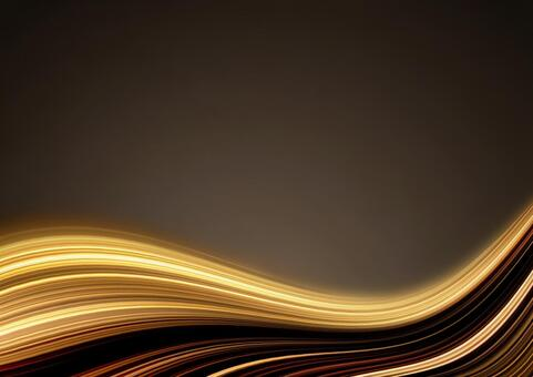 Wavy curve background material (gold)