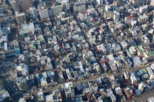 도쿄의 변두리 부감