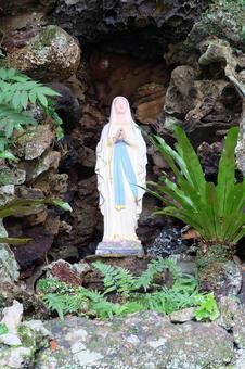 長崎縣/後藤群島福江島天主教Imochiura教堂瑪麗亞雕像