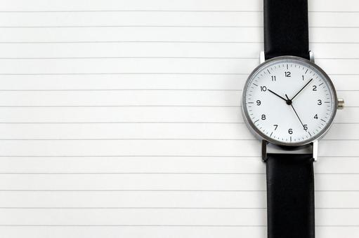 Analog clock Right-sided texture
