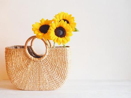 Sunflower and basket bag (4: 3)