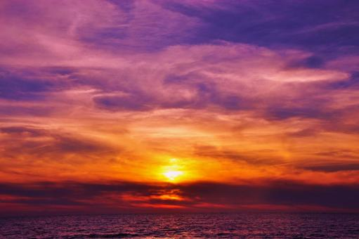 東南亞海洋和日落5