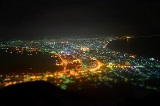 Night view of Mt. Hakodate