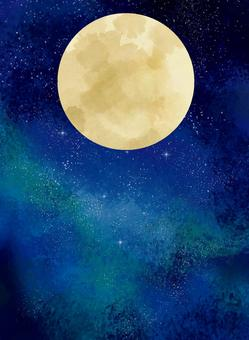 Full moon and starry sky background material