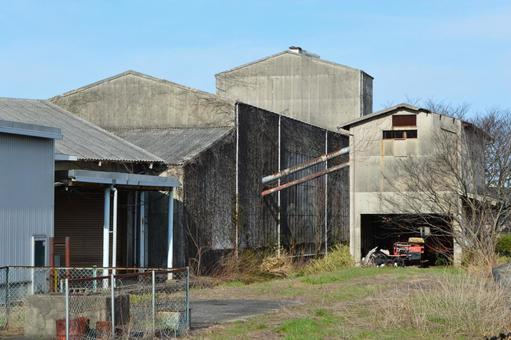퇴폐적 인 풍경 공장의 폐허