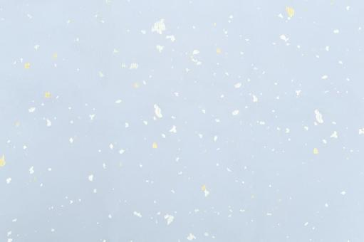 Japanese paper material - white ground gilt silver foil