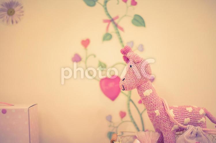 ピンク色の雑貨の写真