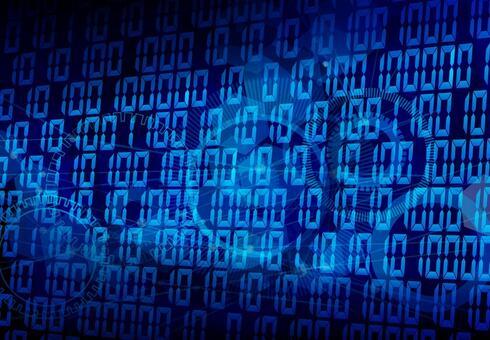 0과 1의 푸른 디지털 배경 소재