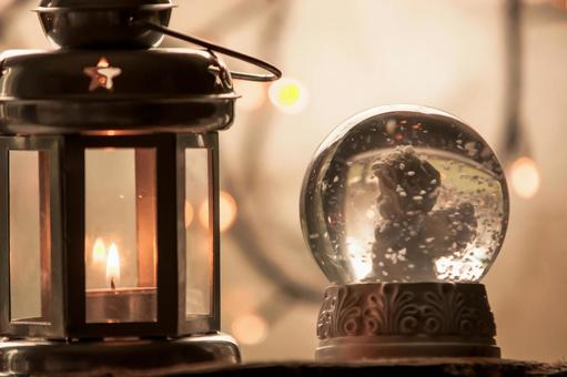 Lantern and snow globe 2