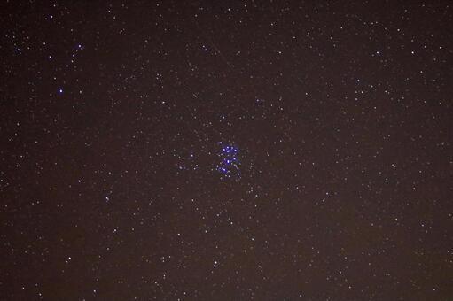 Subaru and shooting star