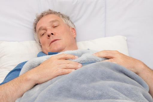 Old man in bed 3
