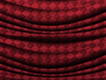 Crimson diamond fabric drape