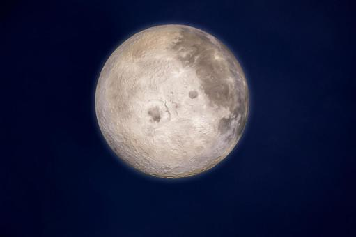 Image of the moon floating in the night sky 15 nights moon viewing