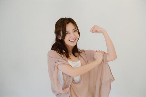 A woman taking a pose 16